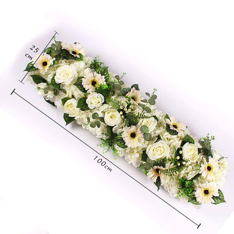 Flor del camino flor de la boda pared artificial rosa hortensia peonía mezcla flores de fondo del banquete de boda decoración para el hogar