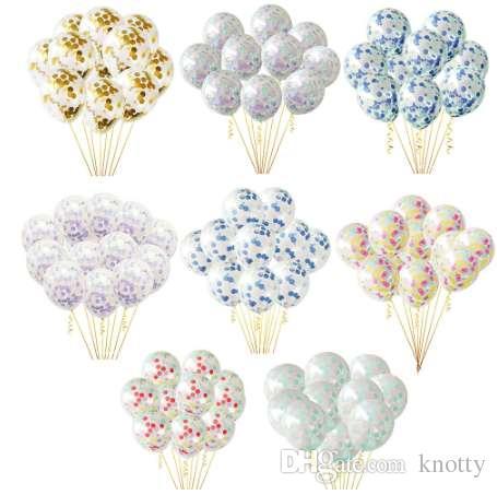Прозрачные воздушные шары красочные Золотой круглый фольги конфетти прозрачные воздушные шары с Днем рождения ребенка душ свадебные украшения