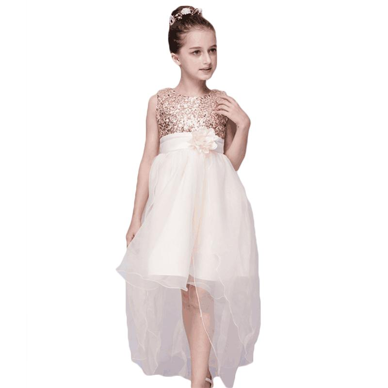 Compre Baby Girl Vestido De Novia Ropa Para Niños Vestidos De Niña Niños Cola Larga Vestido De Fiesta De Noche Para Adolescentes 3 10 Años A 1901