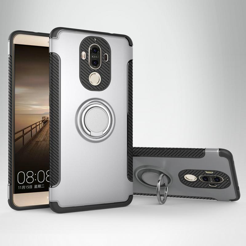 Чехол Для Huawei Mate9 Чехол Для Huawei Mate 9 Pro Крышка Кольцо Держатель Hybird Броня Автомобильный Магнит Телефон