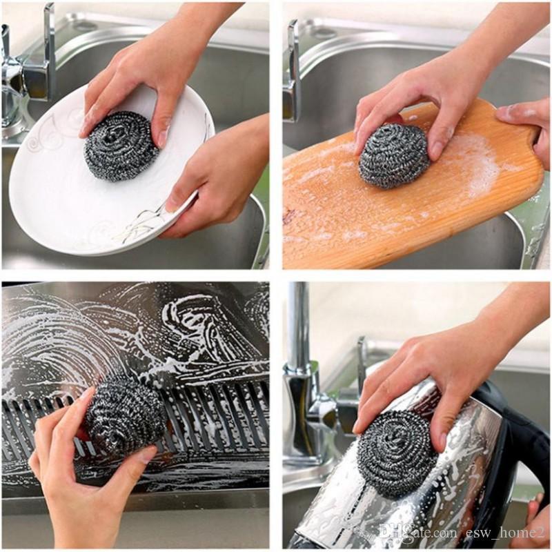 تنظيف الصلب الكرة وعاء غسل الأطباق التطهير فرشاة تنظيف الأواني غسل الصحون فرشاة أدوات التنظيف المنزلية