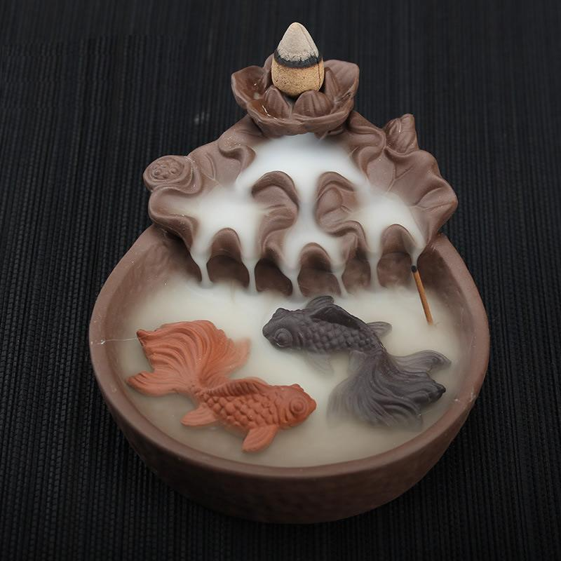 Backflow Incense Burner Ceramic Backflow Cone Stick Incense Burners Censer Gift Ornaments Creative Holders Home Decor