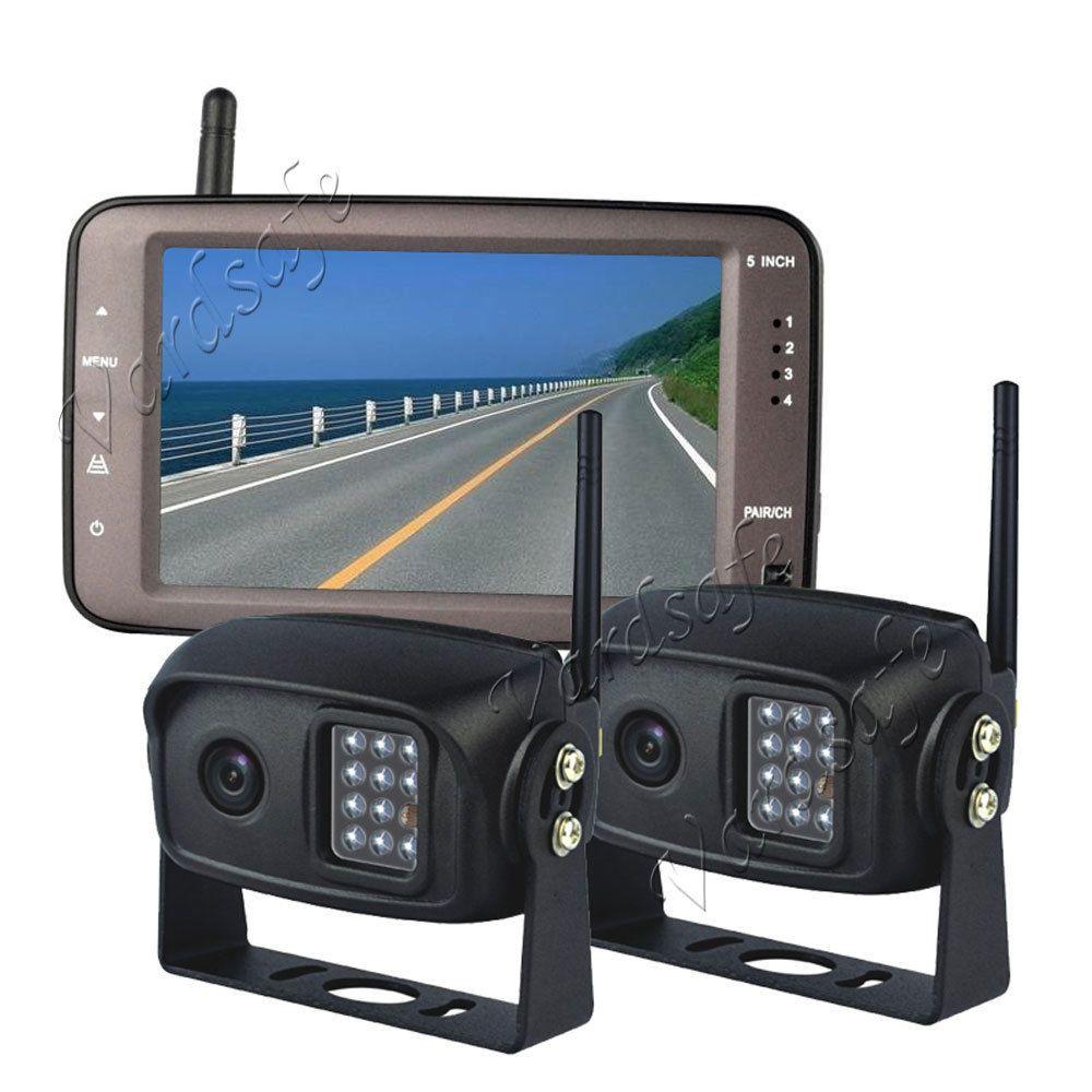 Vardsafe VS796T | Car 2 Wireless Backup Camera System for 5th Wheel Travel Trailer Truck RV