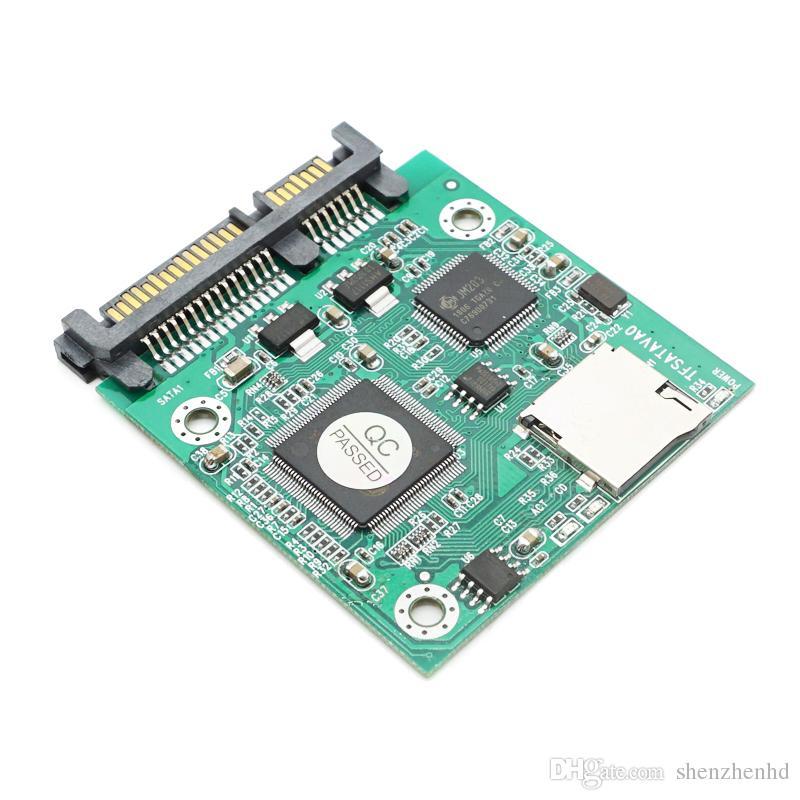"Mikro SD TF Kart 22pin SATA adaptör kartı için 2.5 ""hdd muhafaza TF kartları 7 + 15 SATA dönüştürücü"