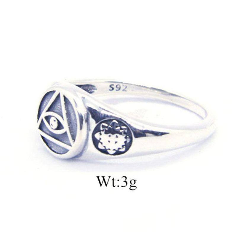 1 PC Darmowa Wysyłka Rozmiar 6-10 Lady Girls 925 Sterling Silver Ring Jewelry Najnowszy S925 Moda Oko Boga Ring
