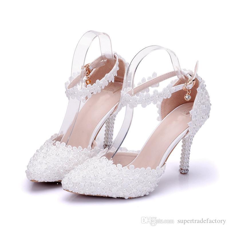 Scarpe Da Sposa Estive.Acquista Tacco A Punta Tacco A Spillo Scarpe Da Sposa Tacco A