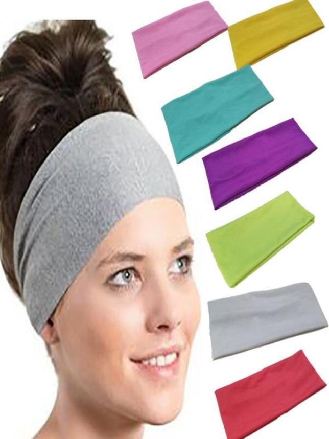 zum halben Preis beste Qualität für Beförderung Großhandel Frauen Feste Yoga Stirnband Breitkrempigen Sport Haarband Damen  Reine Farbe Sport Yoga Schweißband Gym Stretch Stirnband Haarband Von ...