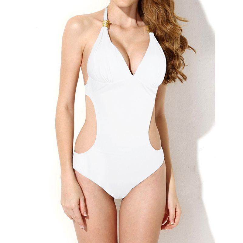 One Piece Swimsuit Solid Swimwear Women Bathing Suit Bandage Swimming suit for women monokini Summer Beach Wear Sexy Bodysuit