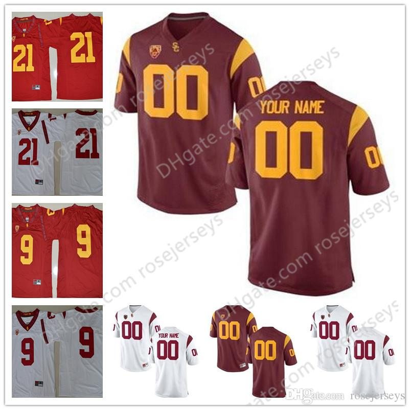 low priced d0f7d de0ac 2019 Custom USC Trojans White Red Personalized Stitched Any Name Number 32  Simpson 55 Seau 14 Darnold 2018 NCAA College Football Jersey S 3XL From ...