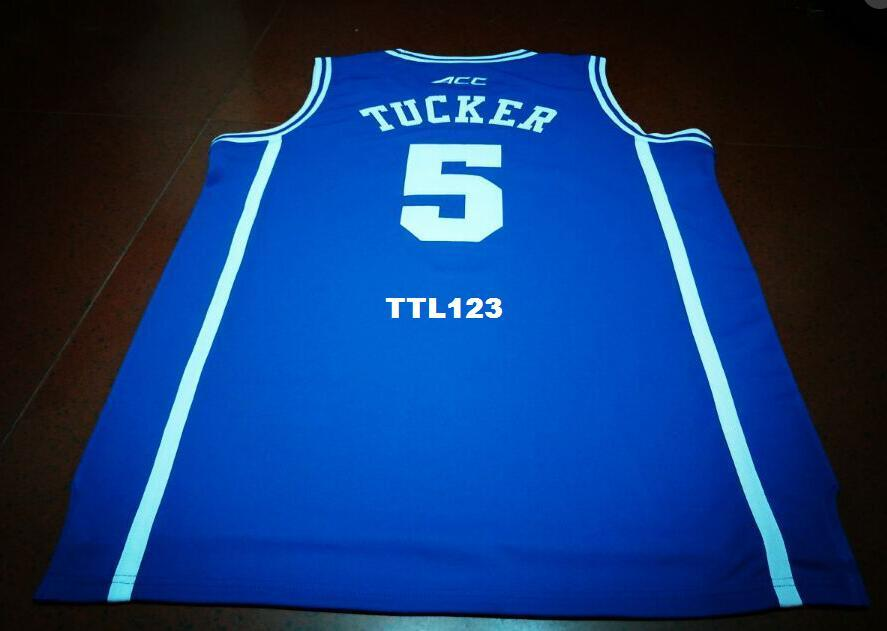 4c2cc056e 2019 Men #5 Duke Blue Devils Tucker Jersey Blue White Retro Jersey New  Material Or Custom Any Name Or Number Basketball Jersey From Ttl123, $15.94  | DHgate.
