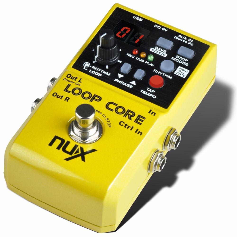 NUX Loop Core Guitar Effect педаль гитара Looper педаль 6 часов время записи 99 пользовательские воспоминания встроенный барабан Шаблоны