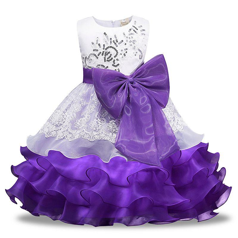 Baby Girl Dress Flower Girl Princess Dress Bambini Baby Party Wedding Bridesmaid Pageant Birthday Tutu Baby Dress Abbigliamento per bambini