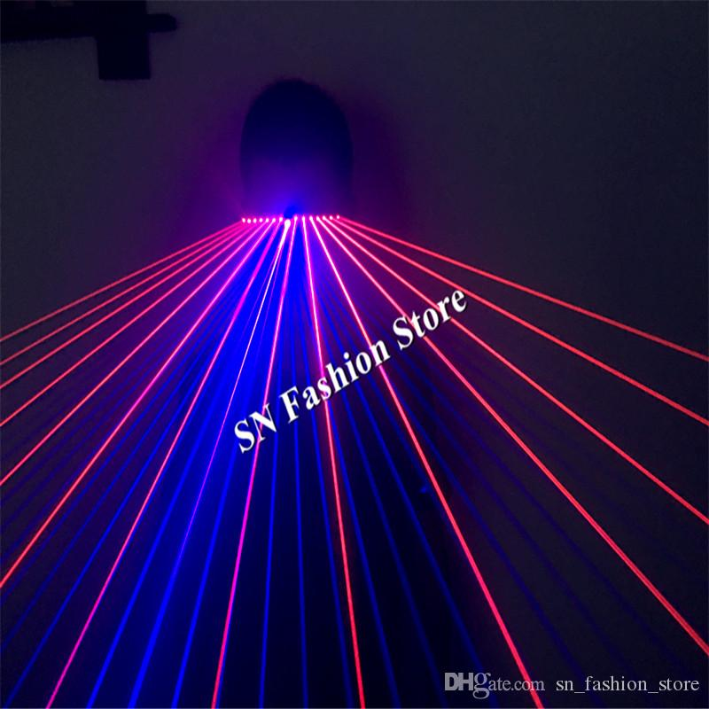 T99 Red laser light glasses disco purple color dj glasses ballroom dance laser blue costumes man show colorful disco catwalk ktv projector
