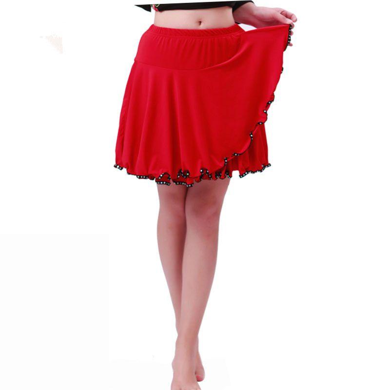 2018 Femmes Jupes De Danse Latine fashion Lady Sexy Costumes Pratique Salle De Bal Tango Salsa Cha Cha Danse Spectacle Jupes