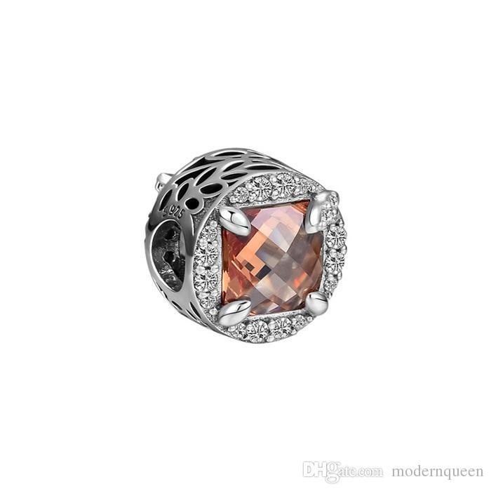 Charms radiante 925 sterling silver adatti per bracciale stile Pandora Bracciale radiante cereali di fascino energetico 797650CCZ H8