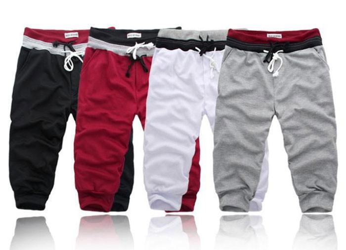 Yeni 2018 Yaz erkek Rahat Şort Gevşek Şort Erkekler Pantolon Boyutu S-XXL Kısa Pantolon Erkekler için Masculharem 4 Renkler Mp076