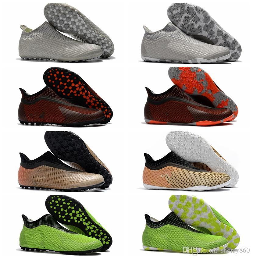 2018 baratas de fútbol para hombre baratas X Tango 17 Purespeed TF IC botas de fútbol zapatos de fútbol de interior zapatos de fútbol de alta calidad Caliente