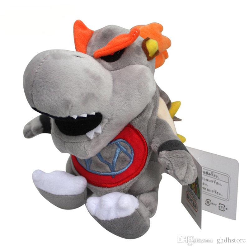 """Hot New 7"""" 18CM Super Mario Bros Dry Bowser Plush Doll Anime Collectible Soft Party Gifts Stuffed Best Toys"""
