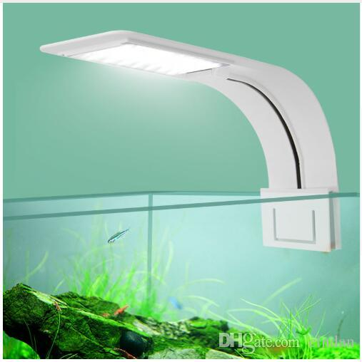Super Slim LED Aquarium Light Lighting plants Grow Light 5W/10W/15W Aquatic Plant Lighting Waterproof Clip-on Lamp For Fish TankSuper Slim L