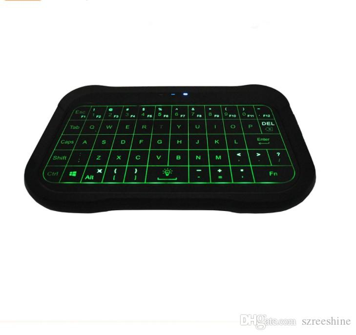 2018 Newest T18 mini keyboard air mouse full touchpad with white green mix white and green color