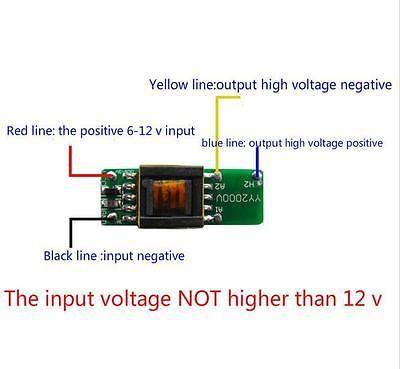 Freeshipping 2pcs/lot DC 6V-12V 1000V 1500V High-voltage Power Boost Step-up Module Generator Board
