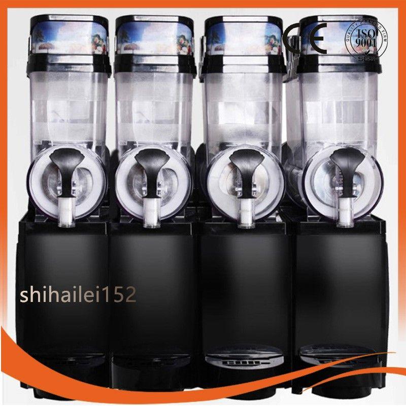 2018 Commerciale Frozen Drink Ice Slush Machine Ice Smoothie Maker Granita Slush Slushie Machine 4Tank 30L 220 v / 110 v