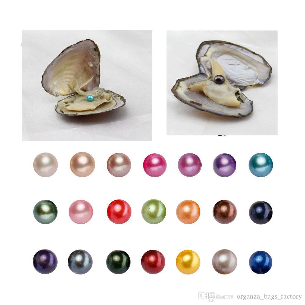 Akoya Oysters con perlas ovaladas cultivadas en agua dulce en el interior regalos de boda y cumplea/ños para mujeres 7,5 /– 8 mm