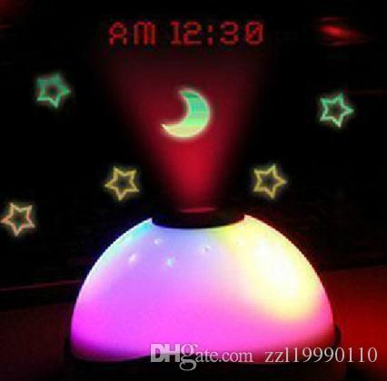 Звездная проекция Луны электронный будильник круглый детский прикроватный столик