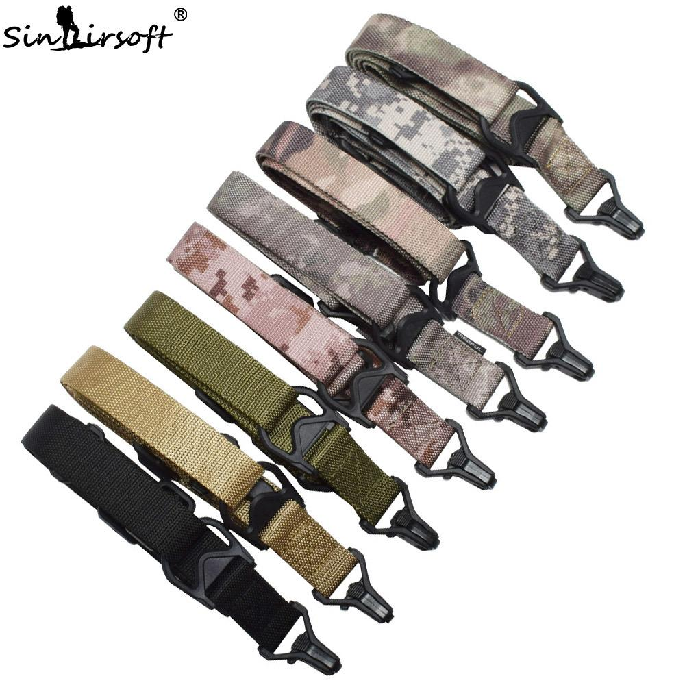 SINAIRSOFT Tactical THREE 3 Point Sling Multifunction Tactical Safety Rope Anti-tearing Nylon Sling Strap FOR Outdoor Hunting