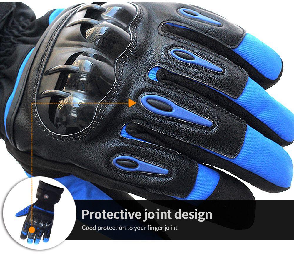 PRO-BIKER motorcycle gloves winter warm waterproof motorbike racing glove black blue red 3 colors size M L XL MTV-08