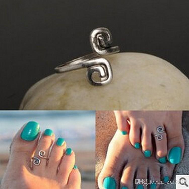 Женщины леди уникальный ретро посеребренные хороший Toe кольцо для женщин ноги пляж ювелирные изделия горячие для женщин