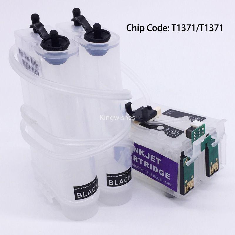 Système vide de CISS de T1371 T1371 avec la puce de réinitialisation pour l'imprimante BK BK de l'imprimante Epson K100 K200 K300