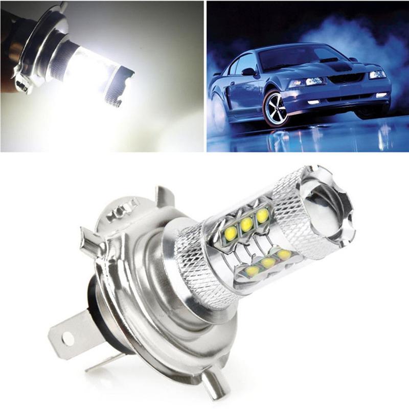 H4 H7 9003 HB2 80 W XBD LED Car Auto Turno DRL Sinal de Nevoeiro Luz Da Lâmpada Blub Branco / Vermelho / Âmbar Iluminação Exterior