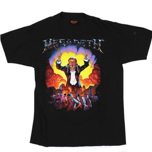 Vtg Megadeth Symphony of Destruction 1992 Tour T-Shirt Thrash Metal Reprint