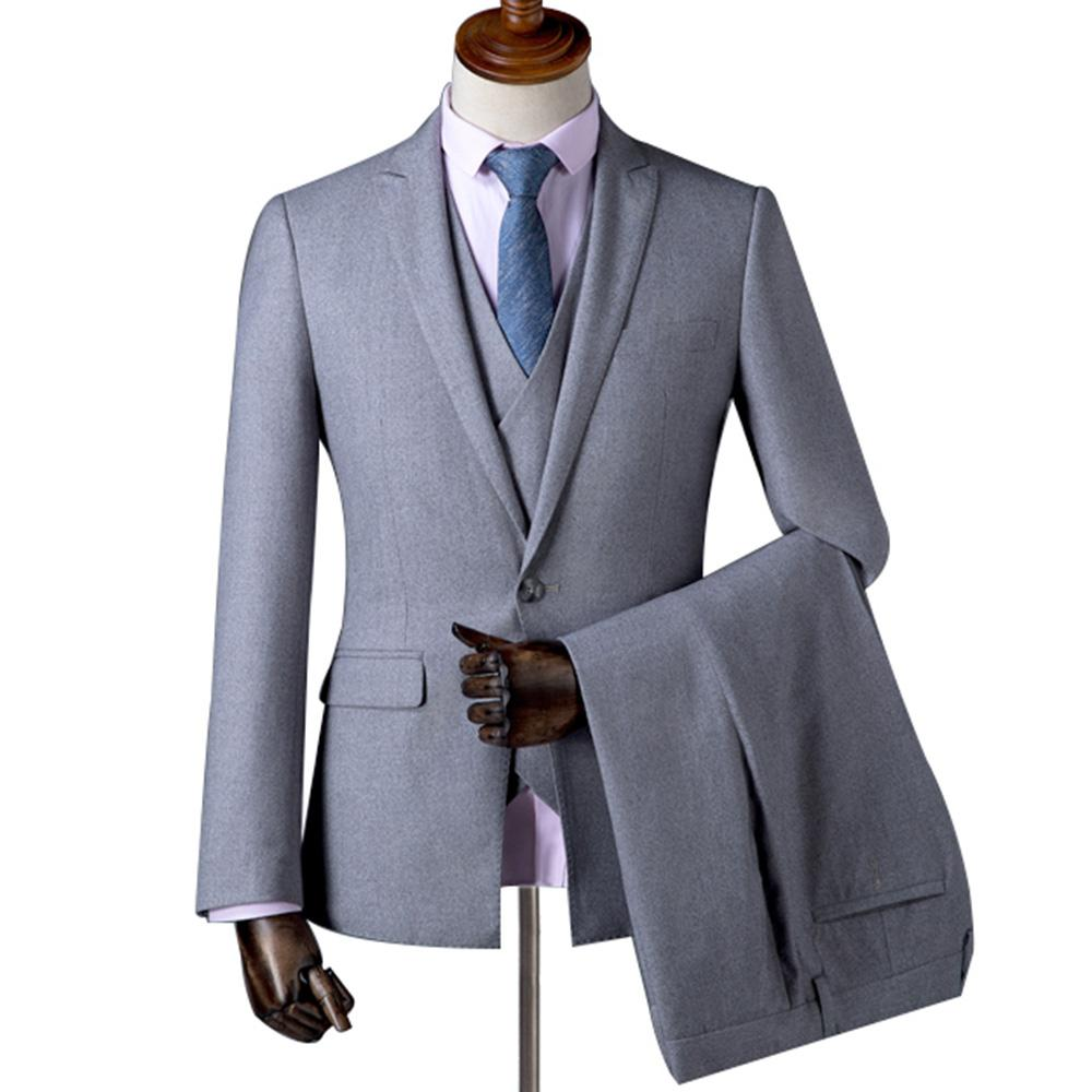 100% authentique 8781a b6b56 2019 Men Dress Suit Pants Jacket + Vest + Pants Veston Homme Veste Complet  Terno Smoking Noivo ZM 559 From Fenghuangmu, $195.79 | DHgate.Com