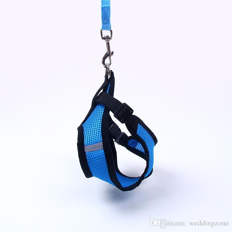 1.2M Pet Traction Rope 5 colores perrito arnés chaleco collar pequeño perro cuerda collar correa de mano para mascotas perrito
