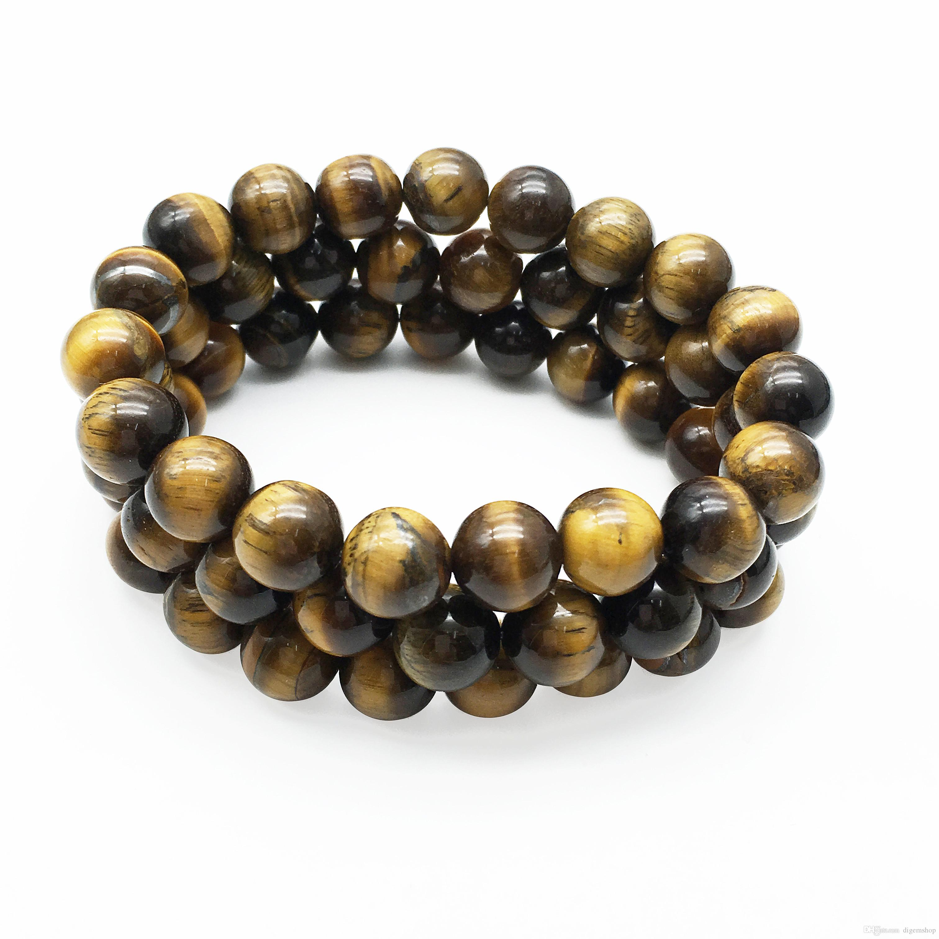 10mm Gelb Tiger Eye Armband, Edelstein Armband, Tiger Eye Perlen, elastisches Armband, Perlen Armband viel Glück Armband