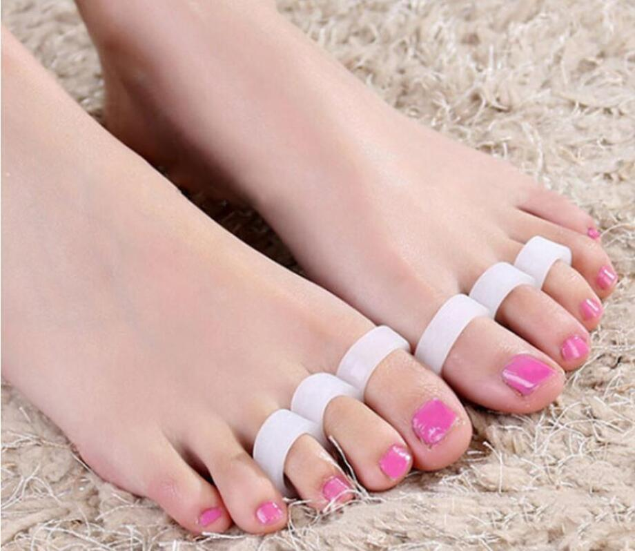 Silicone Gel Hammer Toe Separator Correction Straightener Rings Feet Care Shoes Cushion foot Pads Free Shipping
