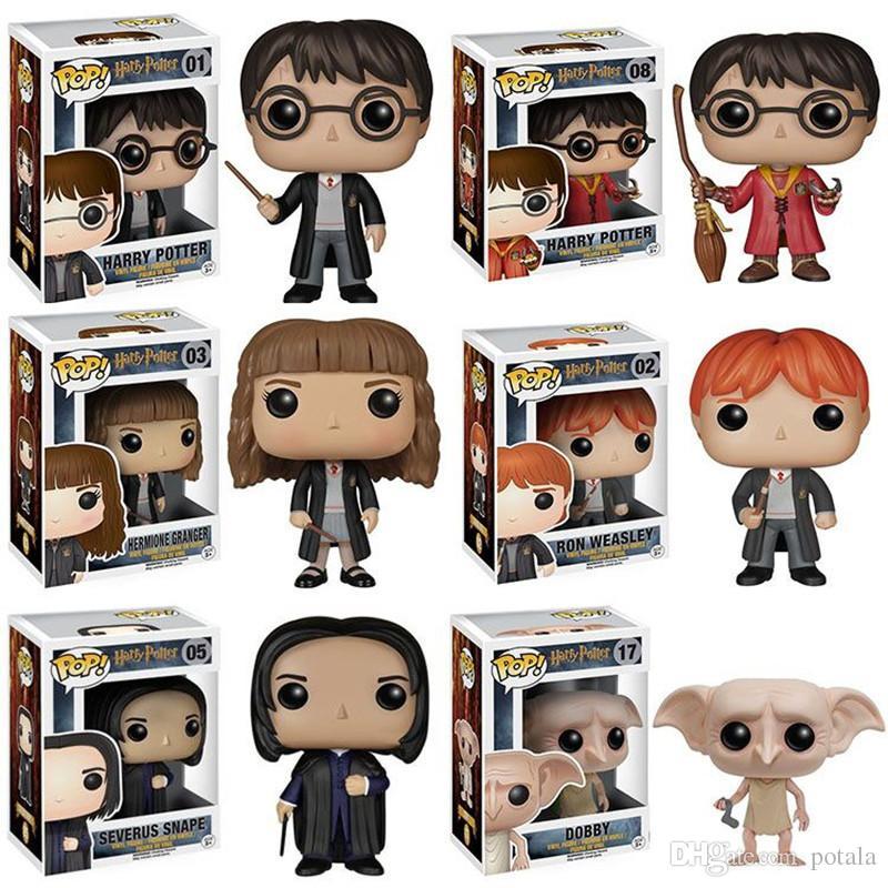 Harry Potter Funko Pop Keychain Action Figures Magic Dobby Hermione Ron Dumbledore Figurine lepin Anime Avenger Movie figures Hero Brinquedo