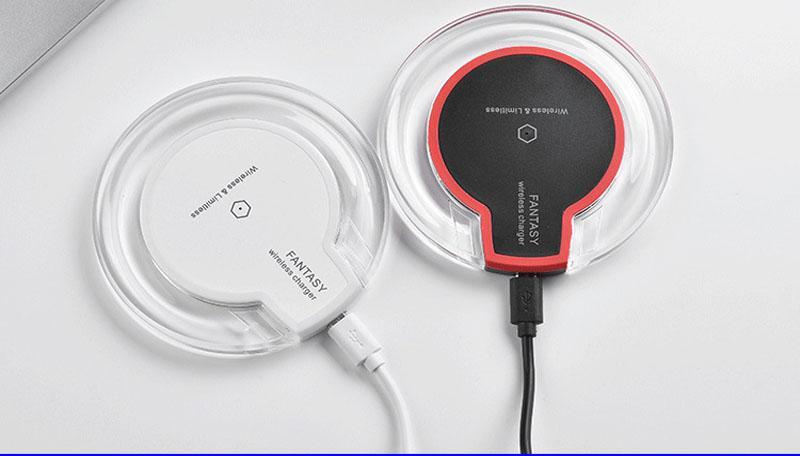 Caricabatterie wireless universale per iPhone X 8 Plus Ricarica wireless per Samsung Galaxy S8 S9 S7 Edge Caricabatterie wireless Qi USB
