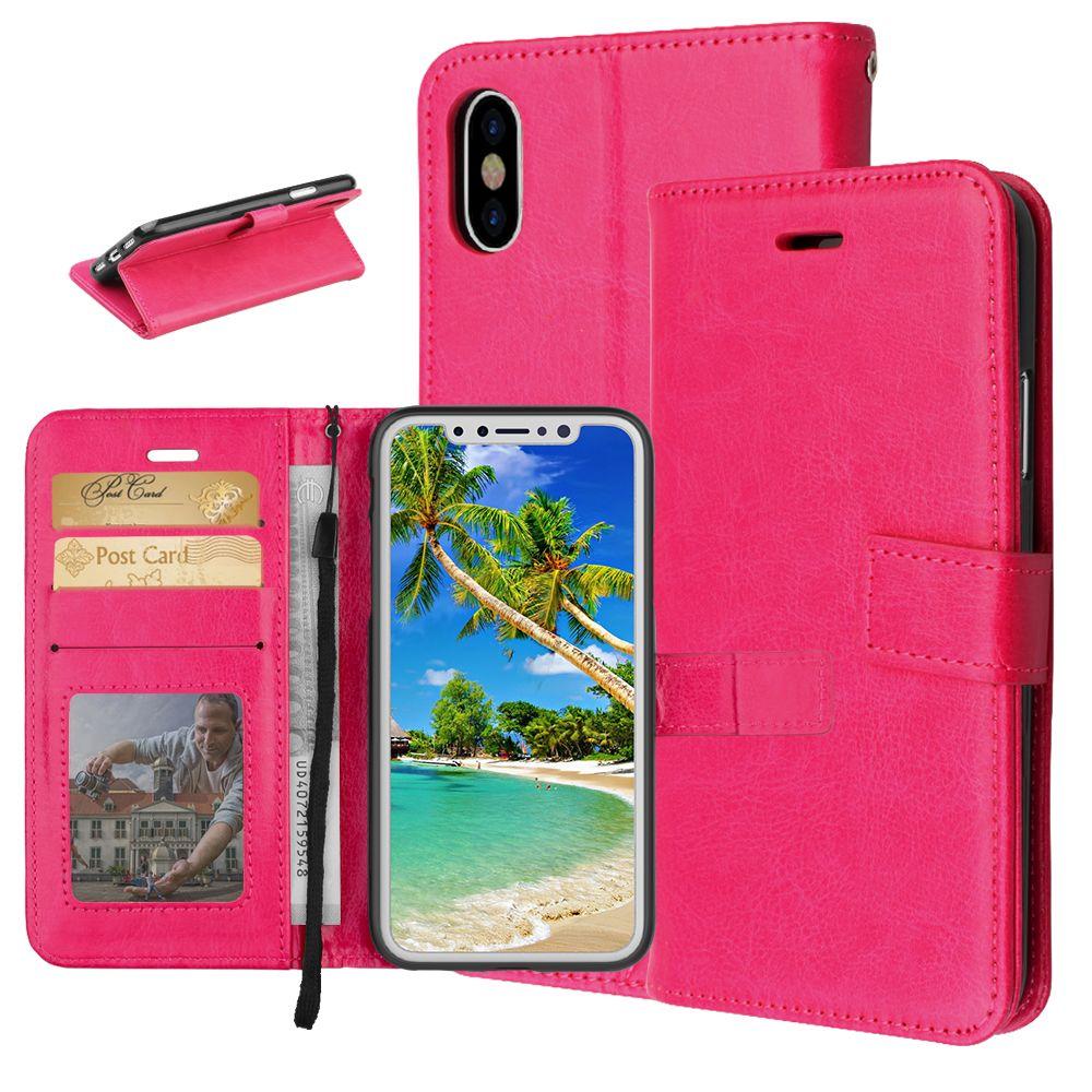 Luxury PU Leather Case For Coque Samsung Galaxy S8 Flip Wallet ...