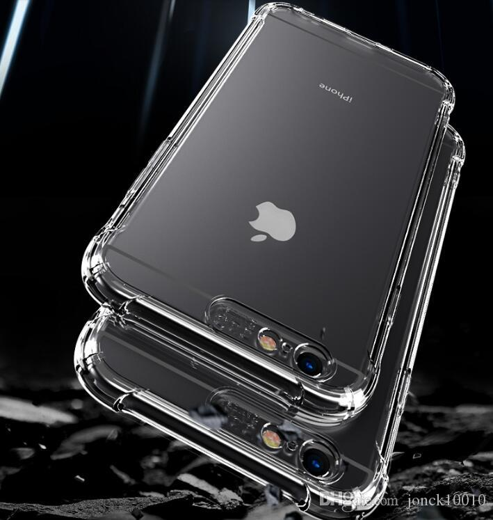 For Iphone X 8 7 6 6S Plus Case Soft Clear Cover 0.3mm TPU Silicon Gel Iphone7 Phone Cases For Iphone8 Samsung Galaxy S9 S8 Plus fitbit