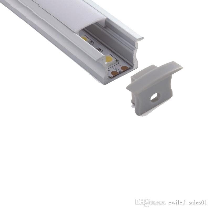 100 X 2M sets/lot 6000 series aluminum profile for led T style aluminium led housing channel for wall recessed lights