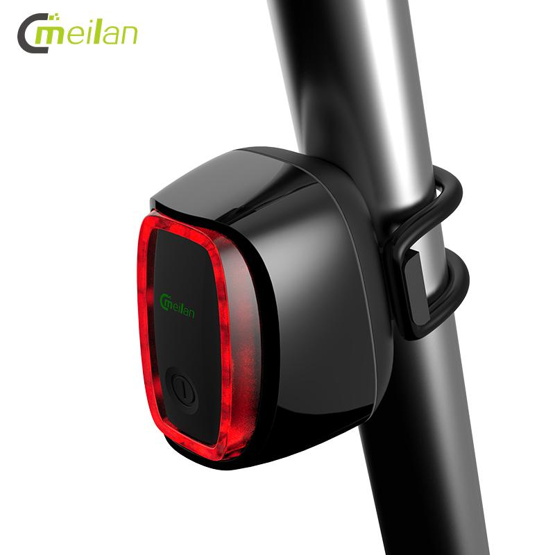 Meilan X6 Smart Bicycle Rear TailLight Auto ON//OFF USB Rechargeable Streamlined