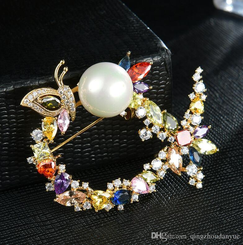 Moda gran cristal diamante bufanda broche accesorios femeninos broche fabricantes