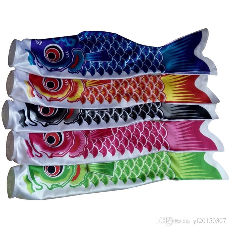 Güzel 70 cm Balık Bayrakları Koi Nobori Sazan Rüzgar Çorap Koinobori Renkli Balık Bayrak Asılı Duvar Dekor