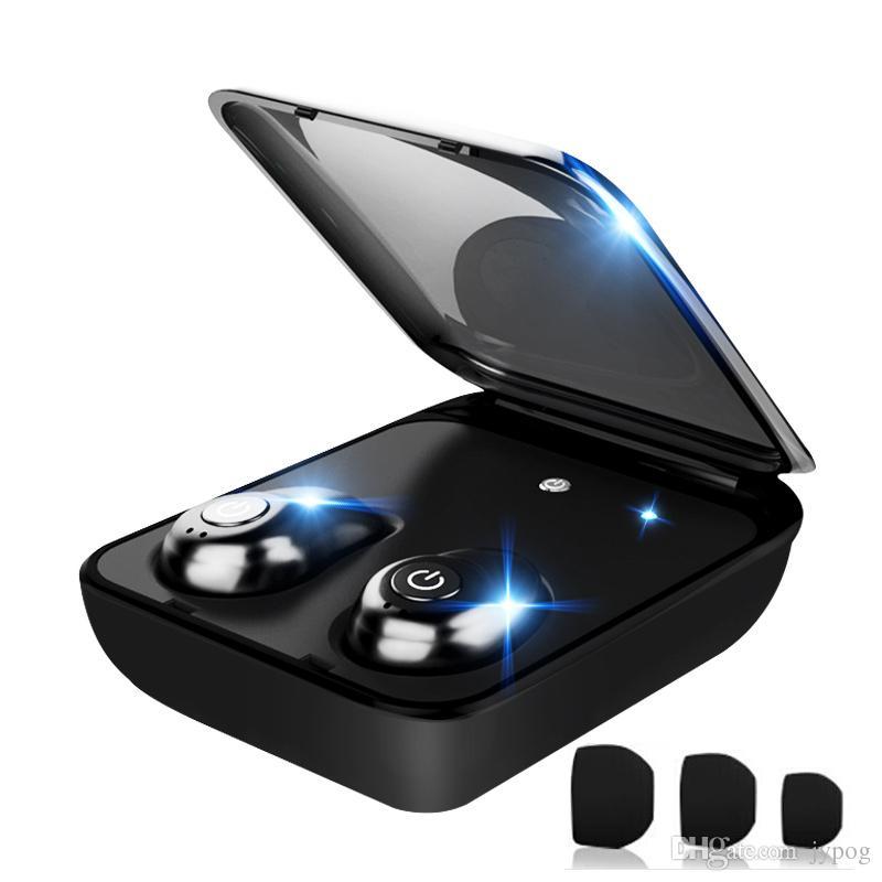 TWSi7 Mini Auricular Bluetooth Inalámbrico 4.1 Auriculares Deportivos Biauriculares Mini Invisible Doble Auricular con Caja de Carga Inteligente Base Estéreo