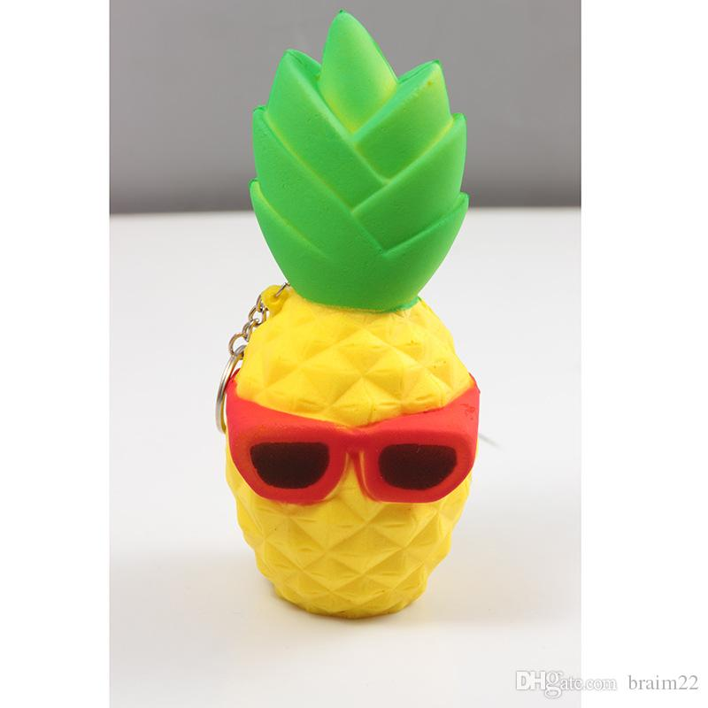 Wholesale New arrived PU Foam Custom Squishy Toys Squeeze Jumbo Pineapple Slow Rising For Anti Stress