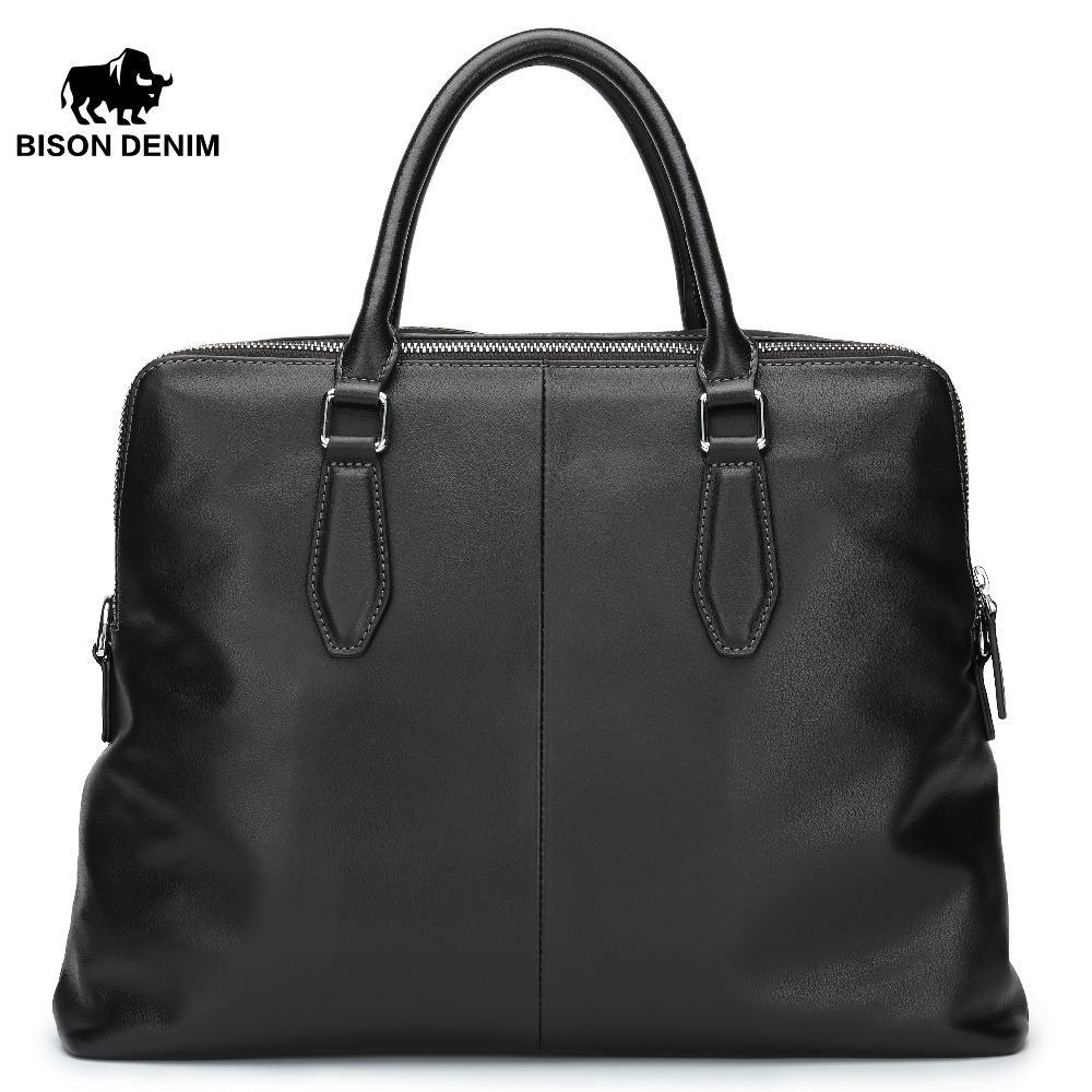 """Зубр джинсовой известный бренд натуральная кожа мужчины """"S портфель 14"""" ноутбук Crossbody сумка повседневная человек сумка бизнес bolsa мужской"""