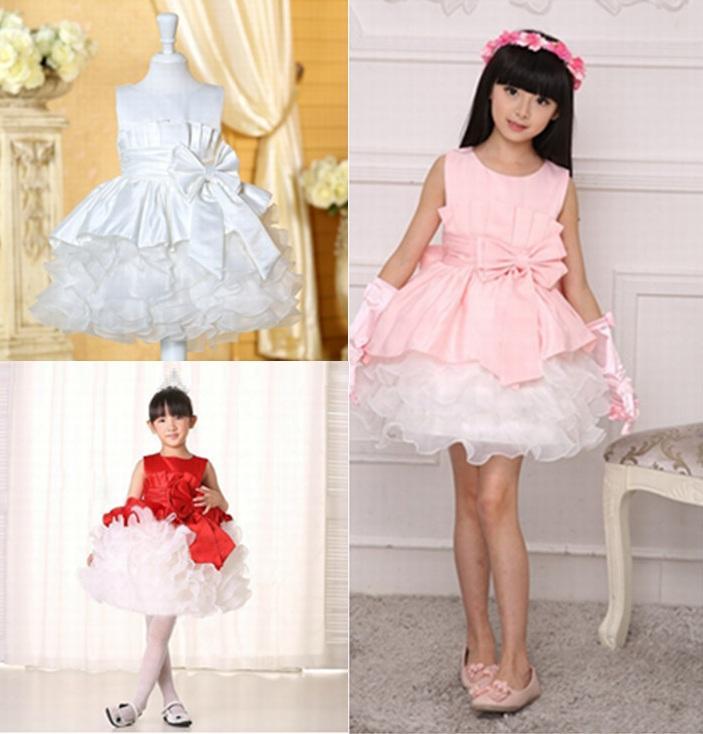 Pincess Pageant Short Flower Girl Dress Prom Gown Kids Dress Occasioni speciali Abiti per bambini Performance GHTZ233